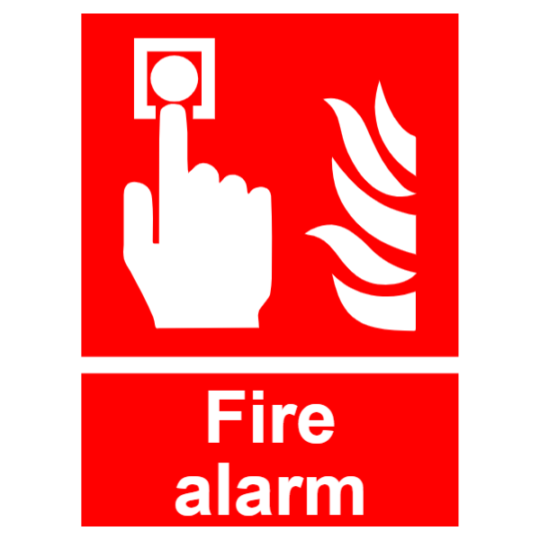 Fire alarm control panel safety sign