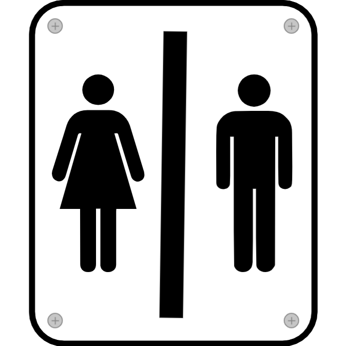 Toilet door sign 2