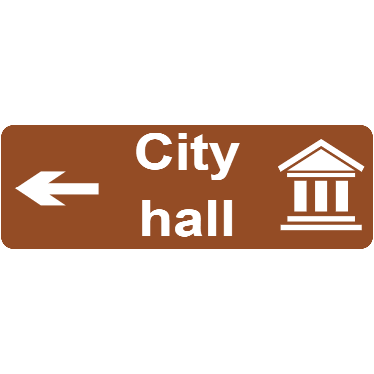 City hall - tourist direction