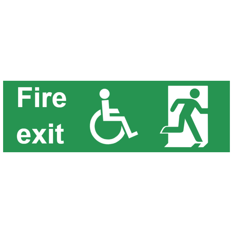 Fire exit sign - with disabled access
