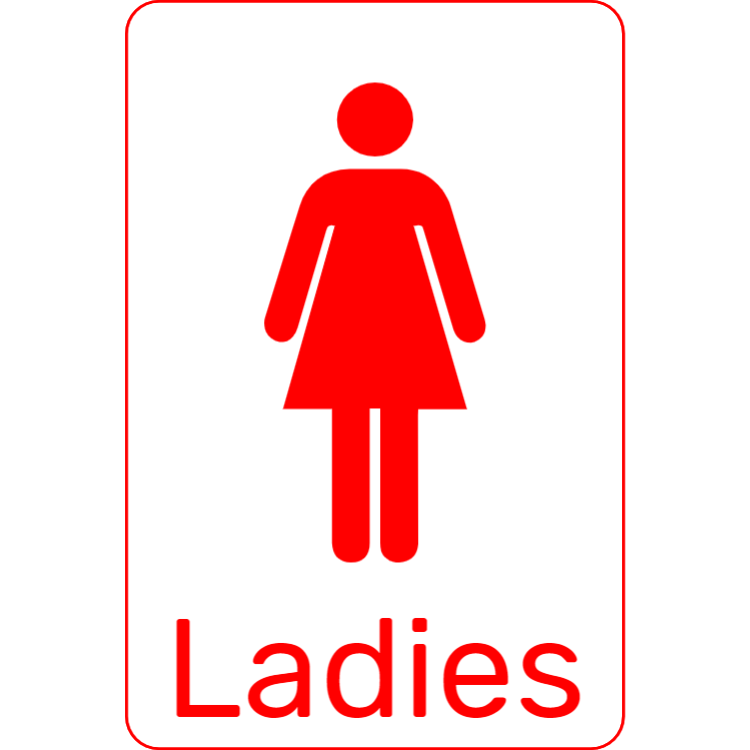 Red toilet sign - Ladies