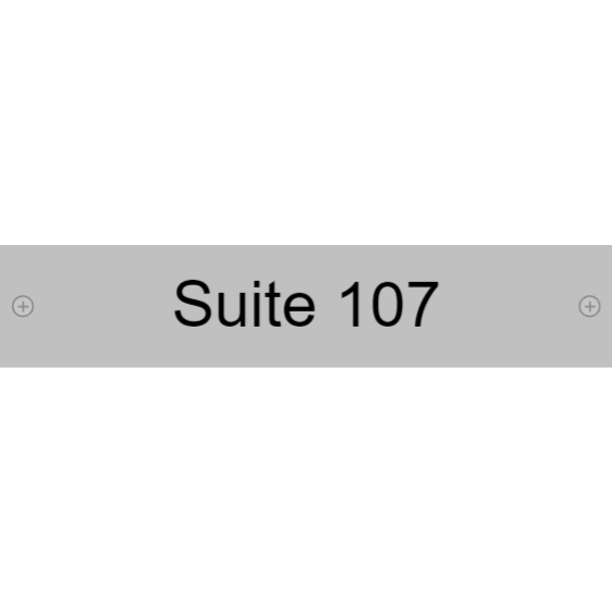 Suite number - door sign