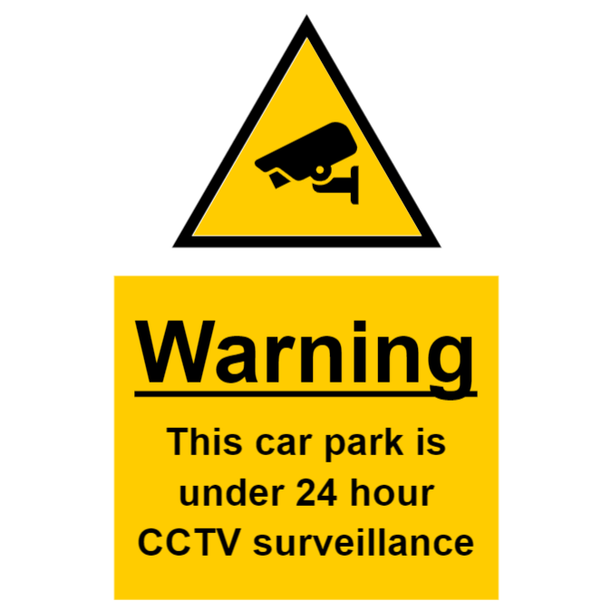 CCTV sign - car park under surveillance