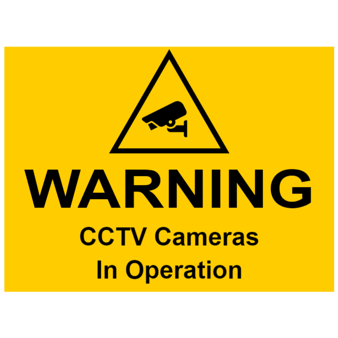 CCTV sign - CCTV cameras in operation
