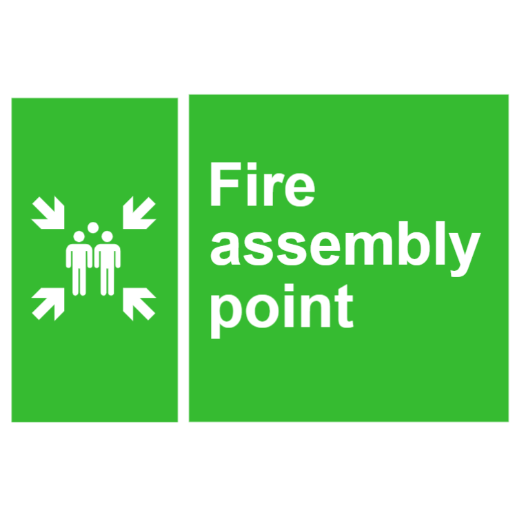 Fire assembly point sign 2