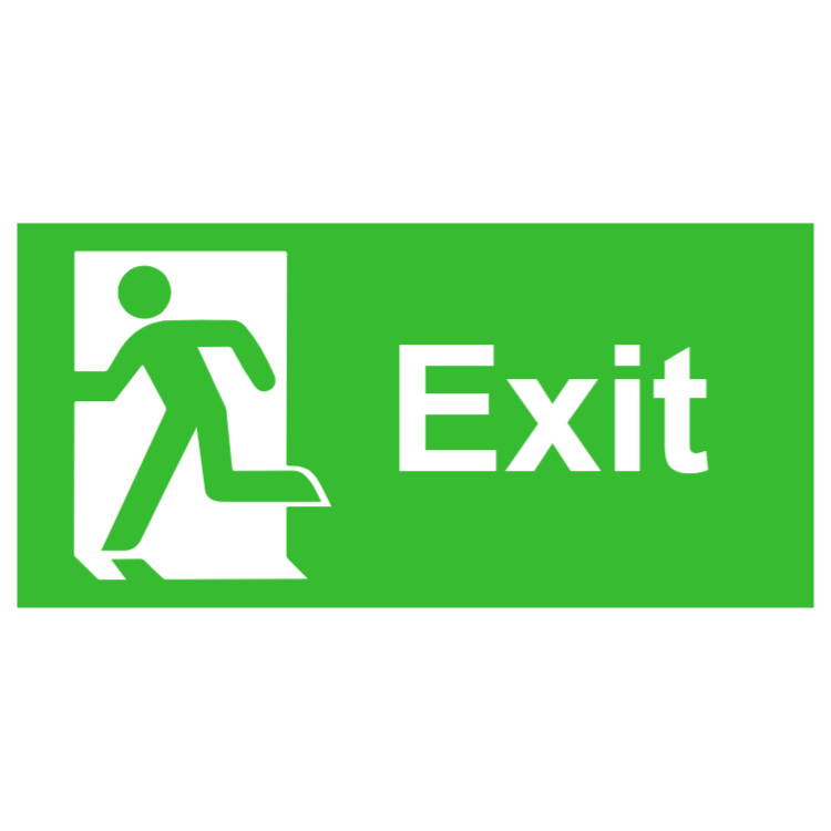 Exit sign - left