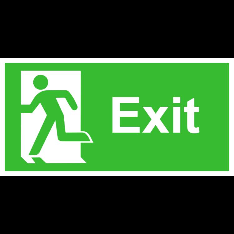 Exit sign - vänster