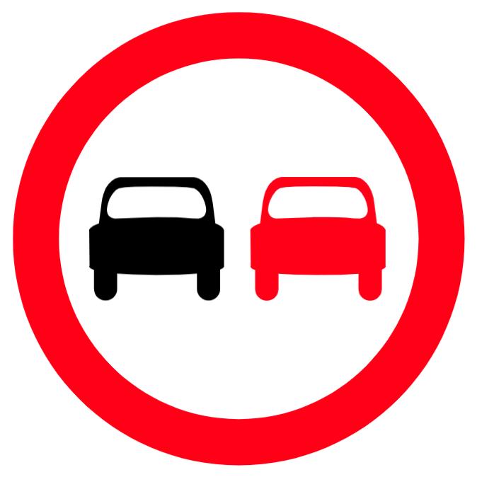Überholverbot Zeichen