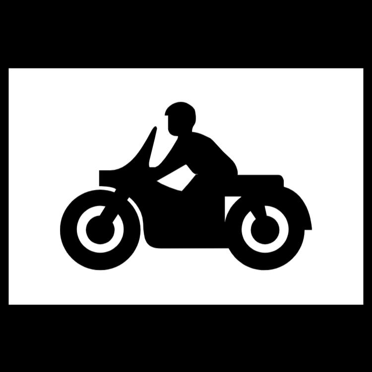 Parkering för solo motorcyklar tecken