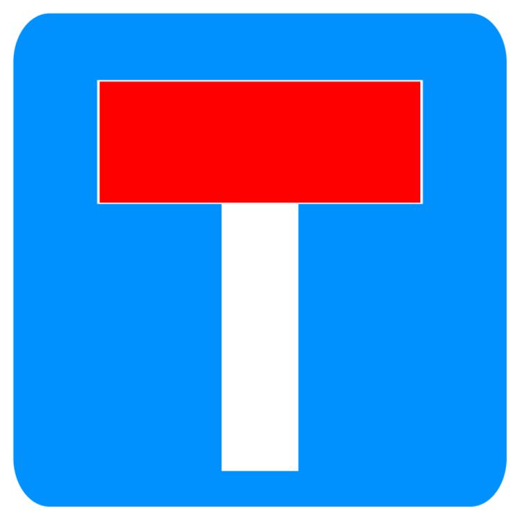 Ingen Thoroughfare för fordonstrafik skyltar