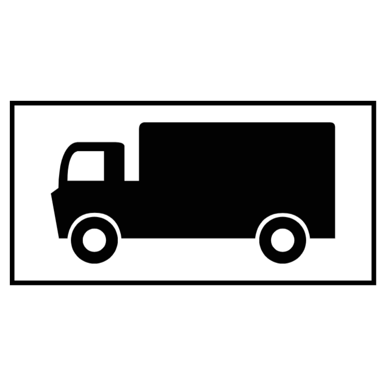 Parking place for goods vehicles sign
