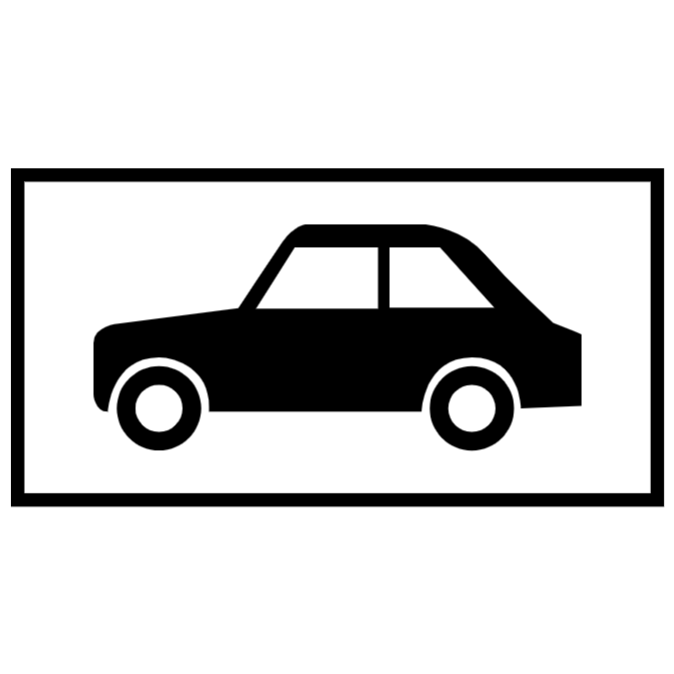 Parking place for motor cars sign