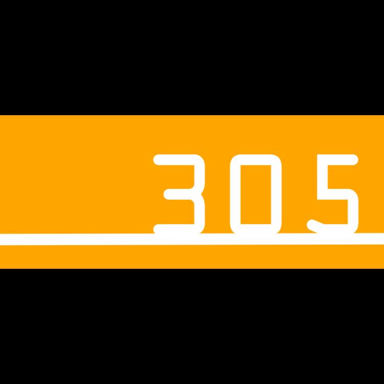 Orange dörrnummer