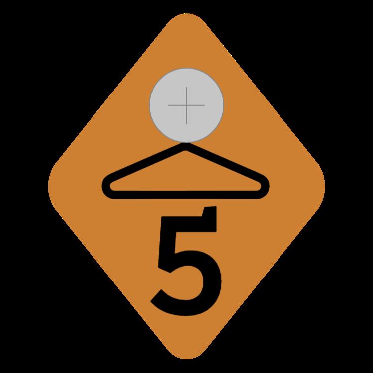 Bronze cloakroom tag