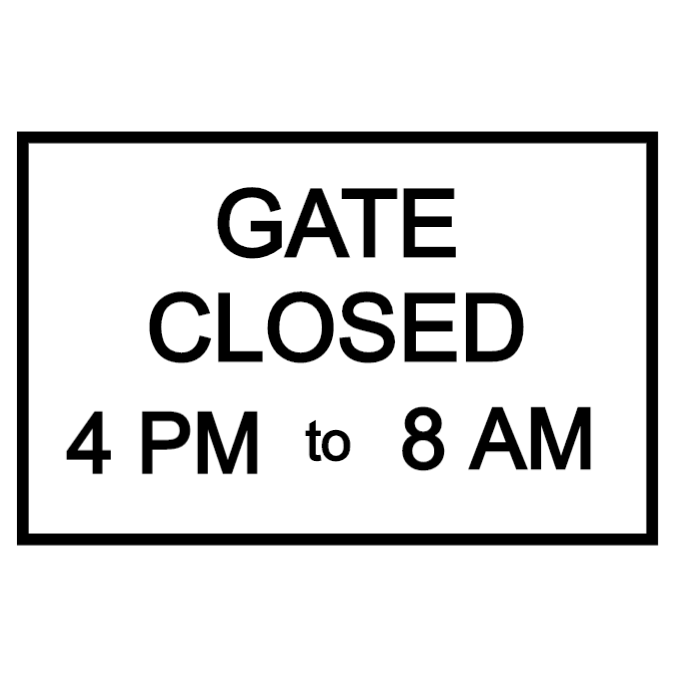 Gate closed sign