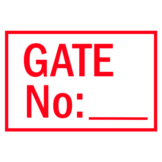 Gate sign No: