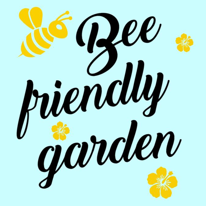 Bee vänliga trädgårdar tecken
