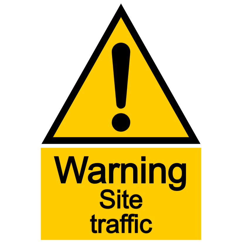 Warning - site traffic
