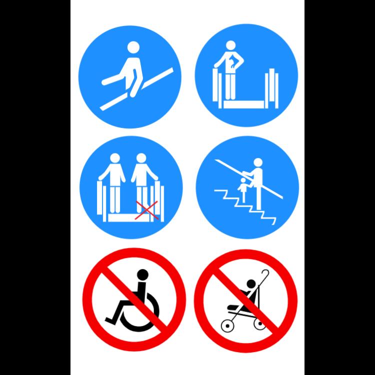Rolltreppe Sicherheitszeichen