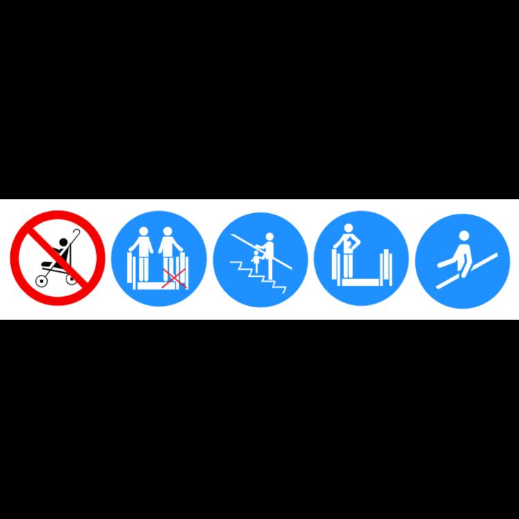 Escalator Sicherheit - Aufkleber