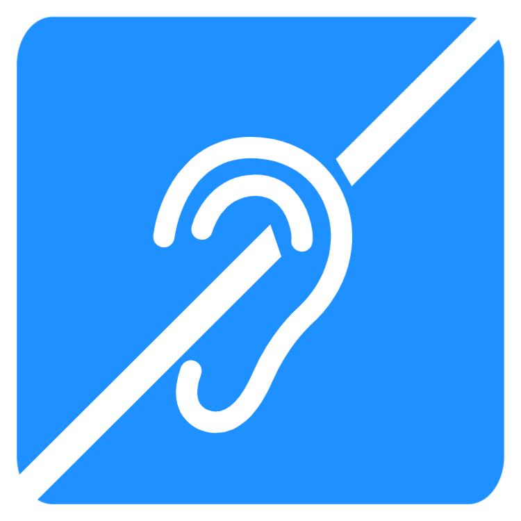 Disabled sign - Hearing loss