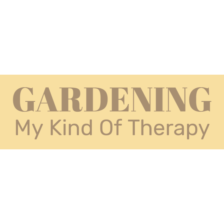 Gardening - My kind of therapy