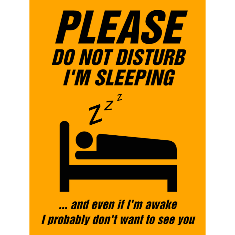 Funny do not disturb sign