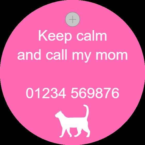 Pet sign - call my mum - pink