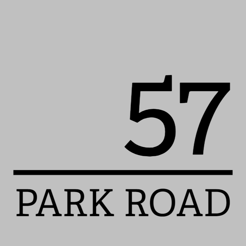 Silver house number sign