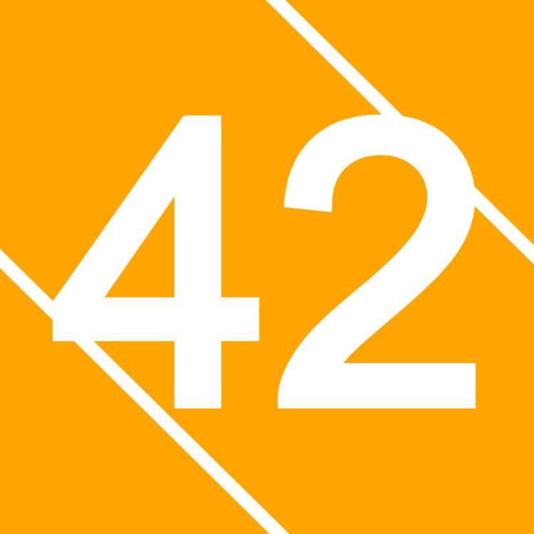 Orange husnummer tecken