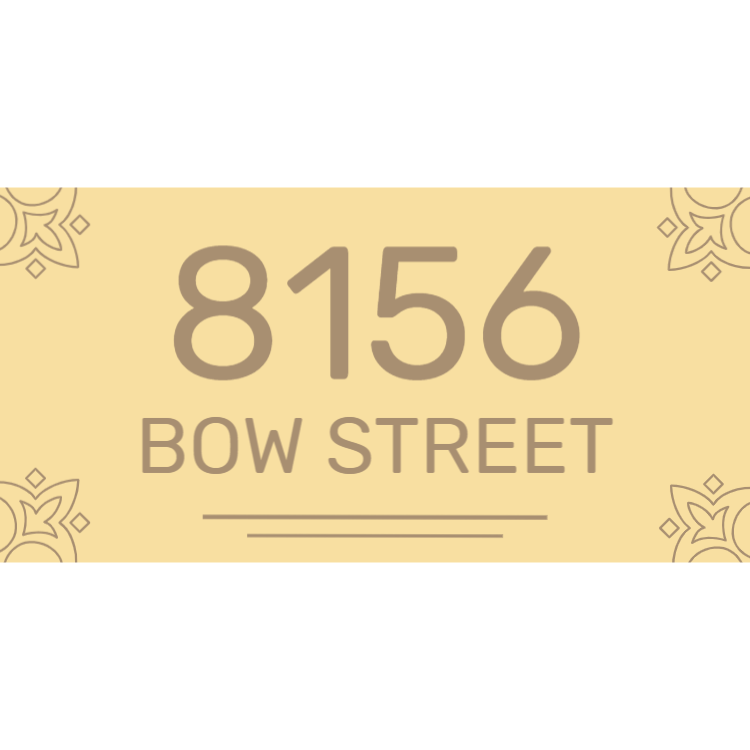 Wooden rectangle house number sign