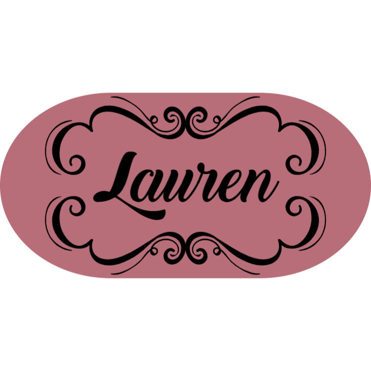 Rose gold name badge