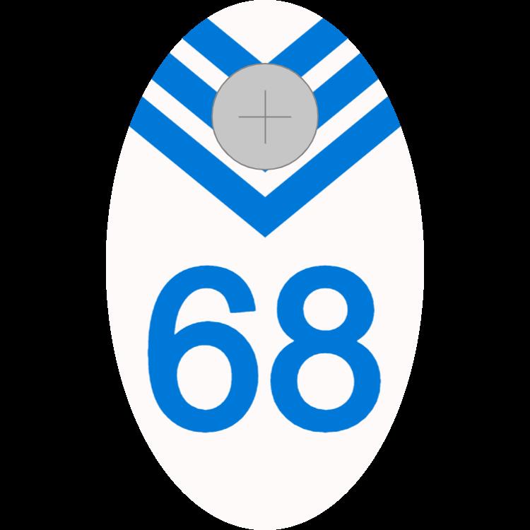 Weißes und blaues Garderobenschild