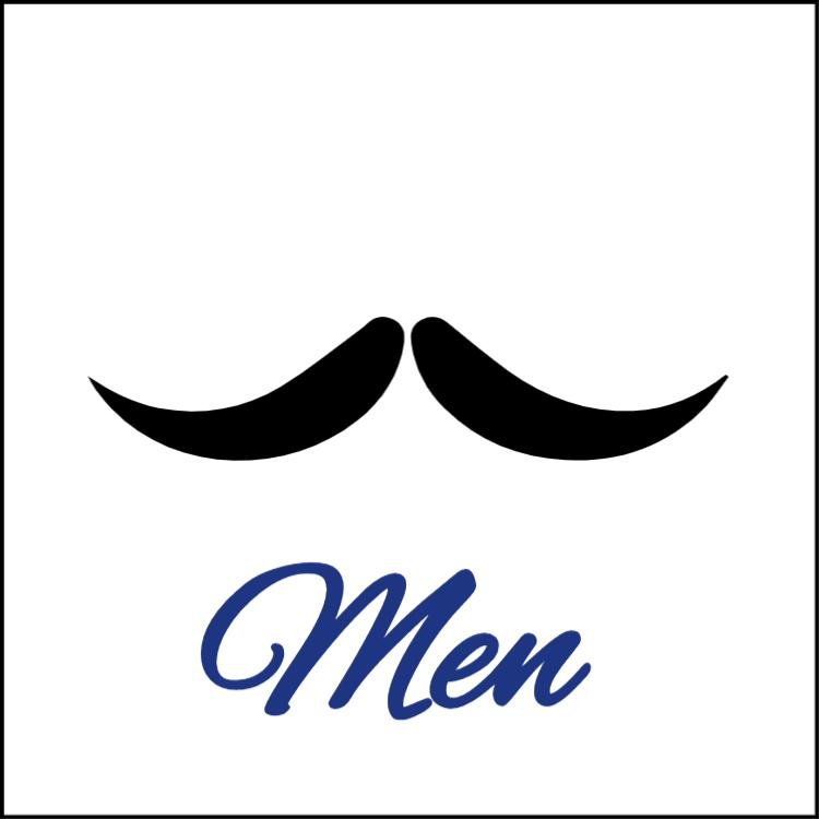 Mustache - toilet sign