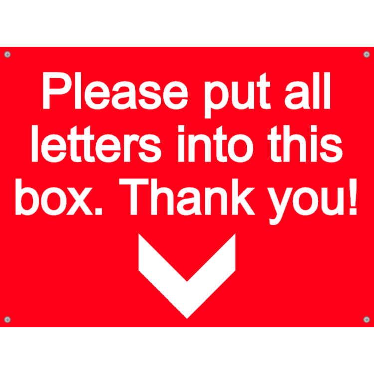 Letterbox plate - please put letters