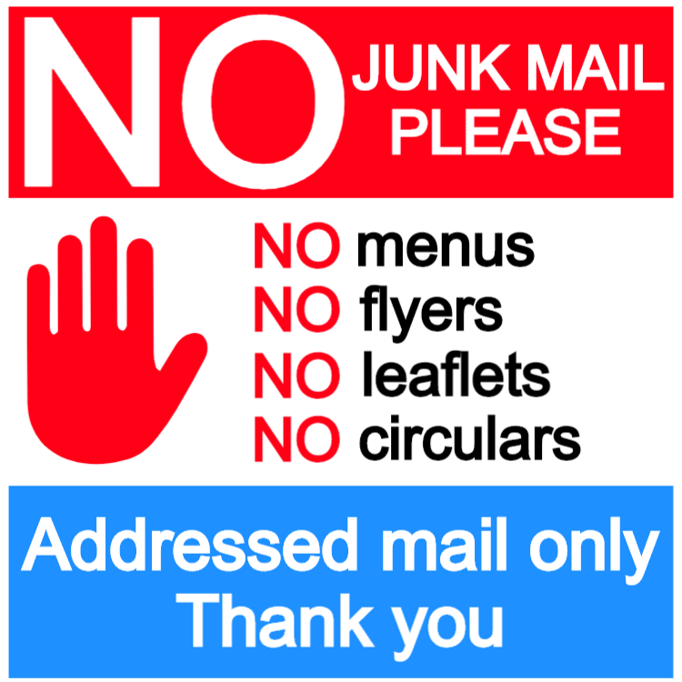 No junk mail sign 6