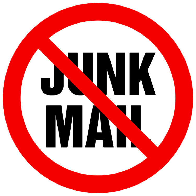 No junk mail sign 7