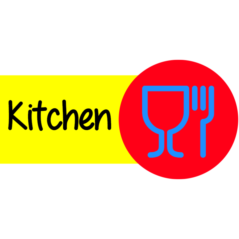 Colorful kitchen sign