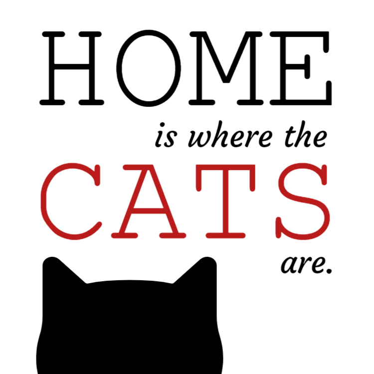 Home is where the cats are sign