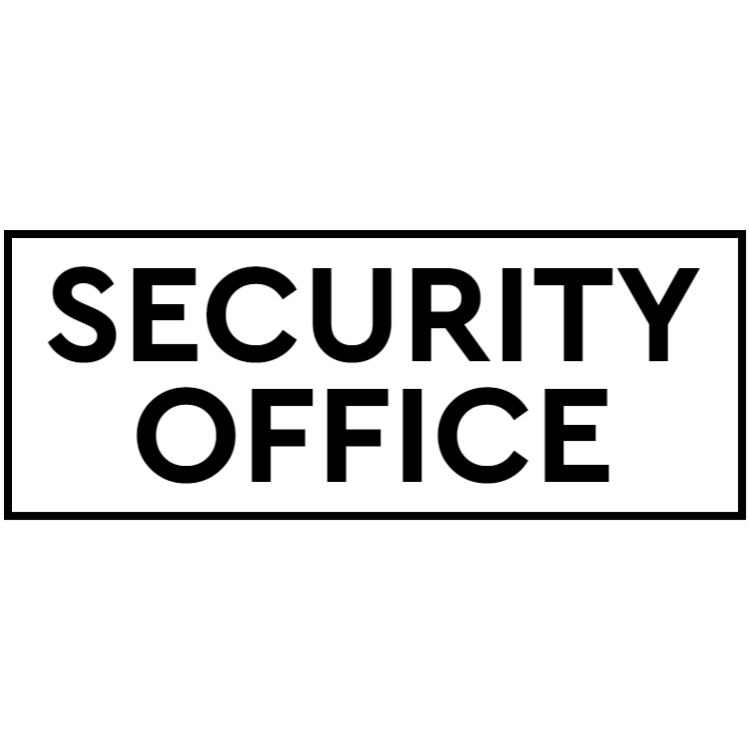 Security office sign