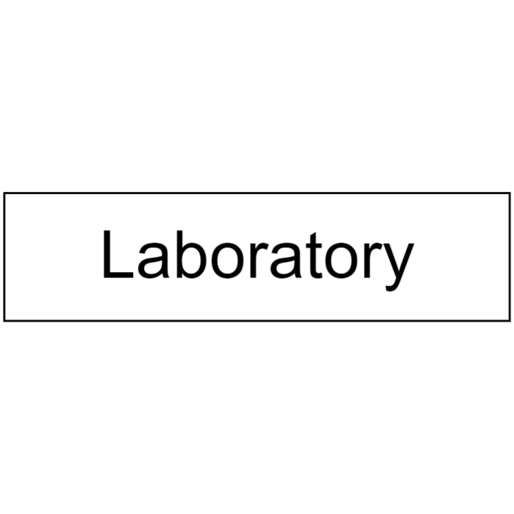 White laboratory sign