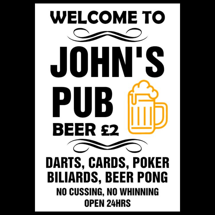 Custom pub sign