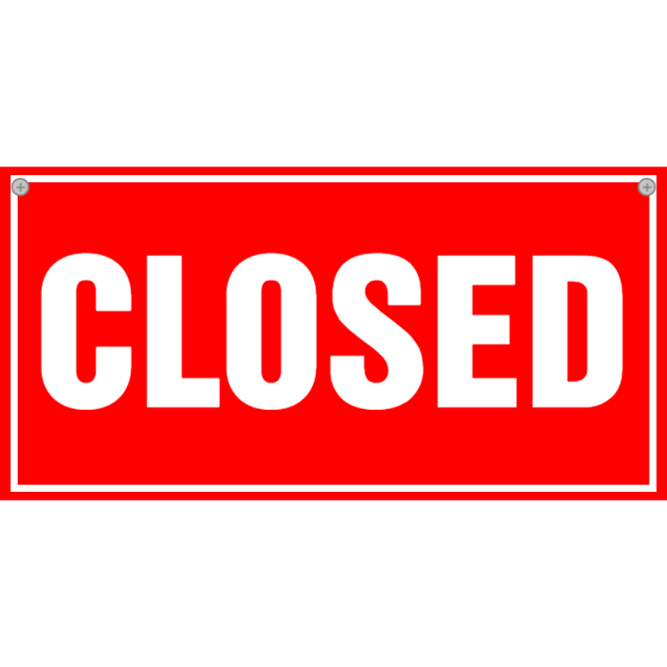 Closed sign - red