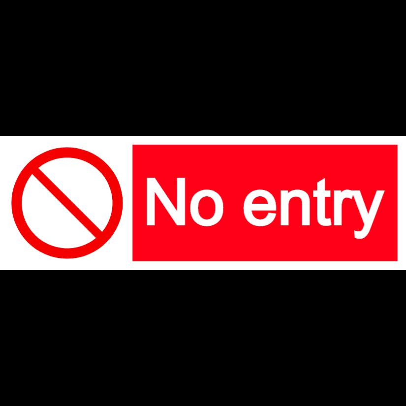 No entry - landscape sign