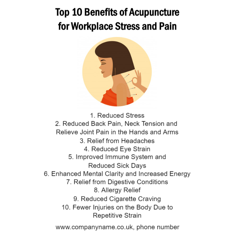 10 benefits of acupuncture sign
