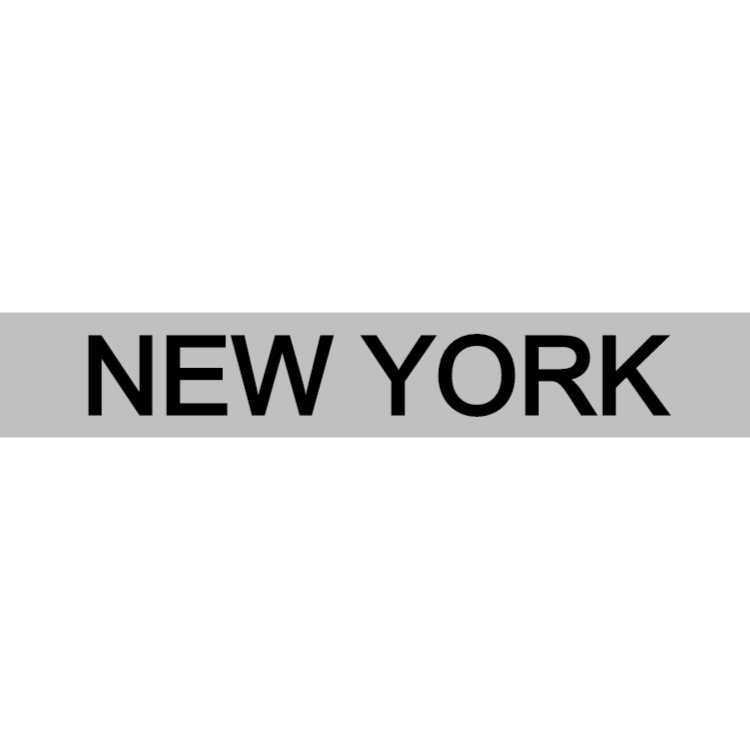New York - silver sign