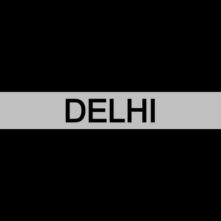 Delhi - silver sign