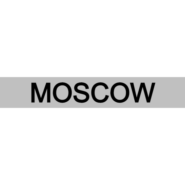 Moscow - silver sign