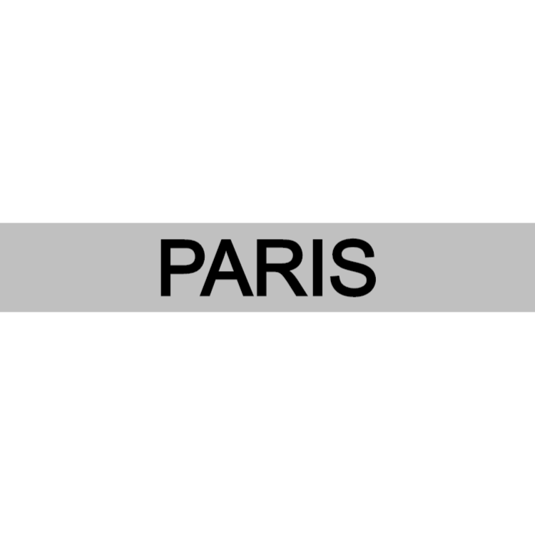 Paris - silver sign
