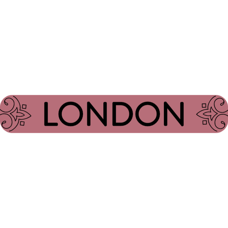 London - rose gold sign